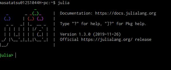 Juliaの起動画面